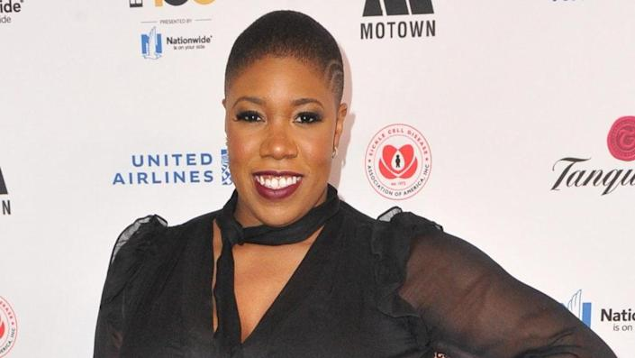Symone Sanders, who was a senior adviser to the Biden-Harris campaign, is seen as a potential candidate for the role of White House press secretary. (Photo by Rachel Luna/Getty Images)
