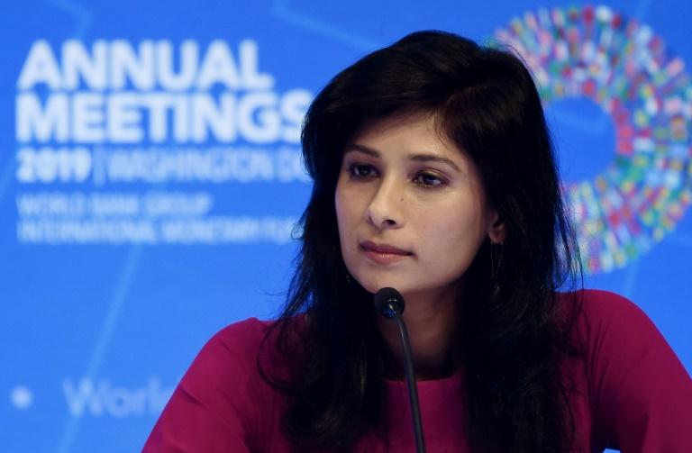 IMF chief economist Gita Gopinath welcomed the recent US-China trade truce, and said a durable solution could help boost the global economy (AFP Photo/Olivier Douliery)