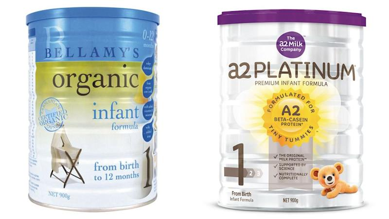Organic baby formula is often placed as orders from friends and relatives in China. Photo: Supplied
