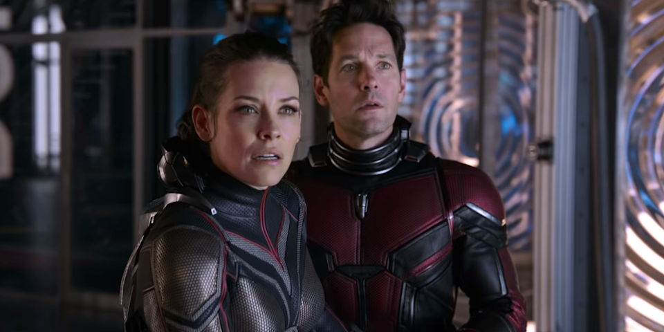 Evangeline Lilly and Paul Rudd in 'Ant-Man and the Wasp' (Marvel)