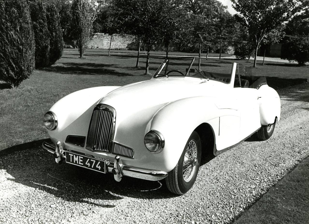 5.DB1 (1948-1950) – The Two Litre Sports (DB1) was premiered at the 1948 London Motor Show. Based on a chassis similar to the Atom that preceded WW2, only 14 examples were built. This car begins to feature the recognisable Aston Martin grille shape that is seen today (AMHT)