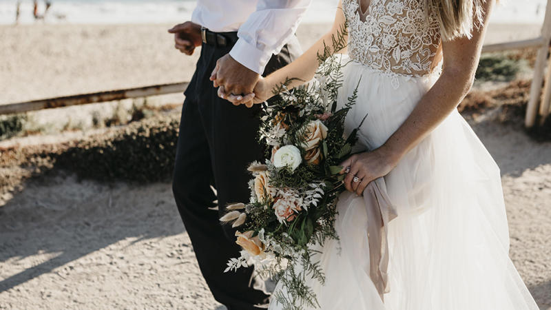 Married couple wedding day coronavirus restrictions and protocols