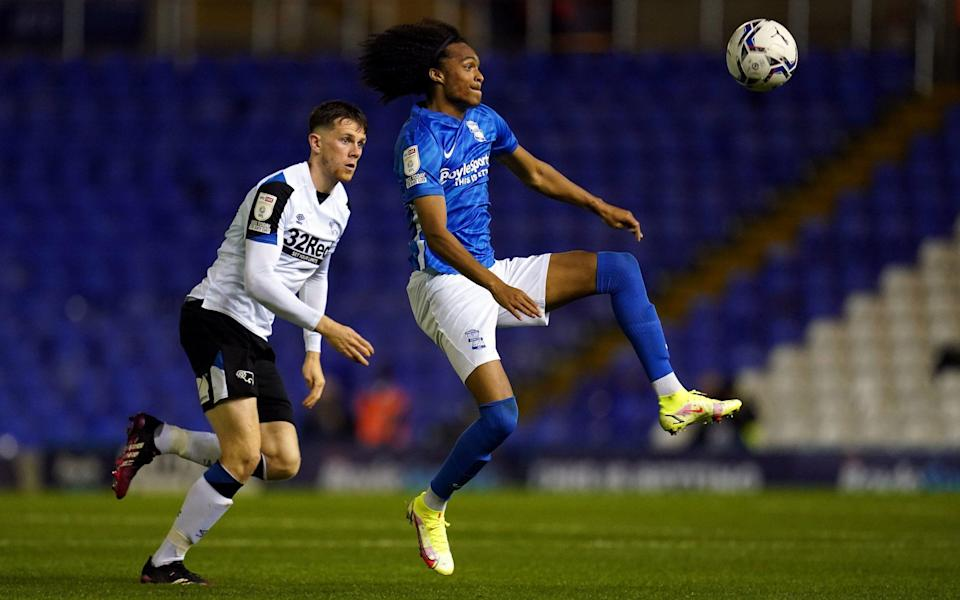 Tahith Chong goes for the ball in a Championship match - PA