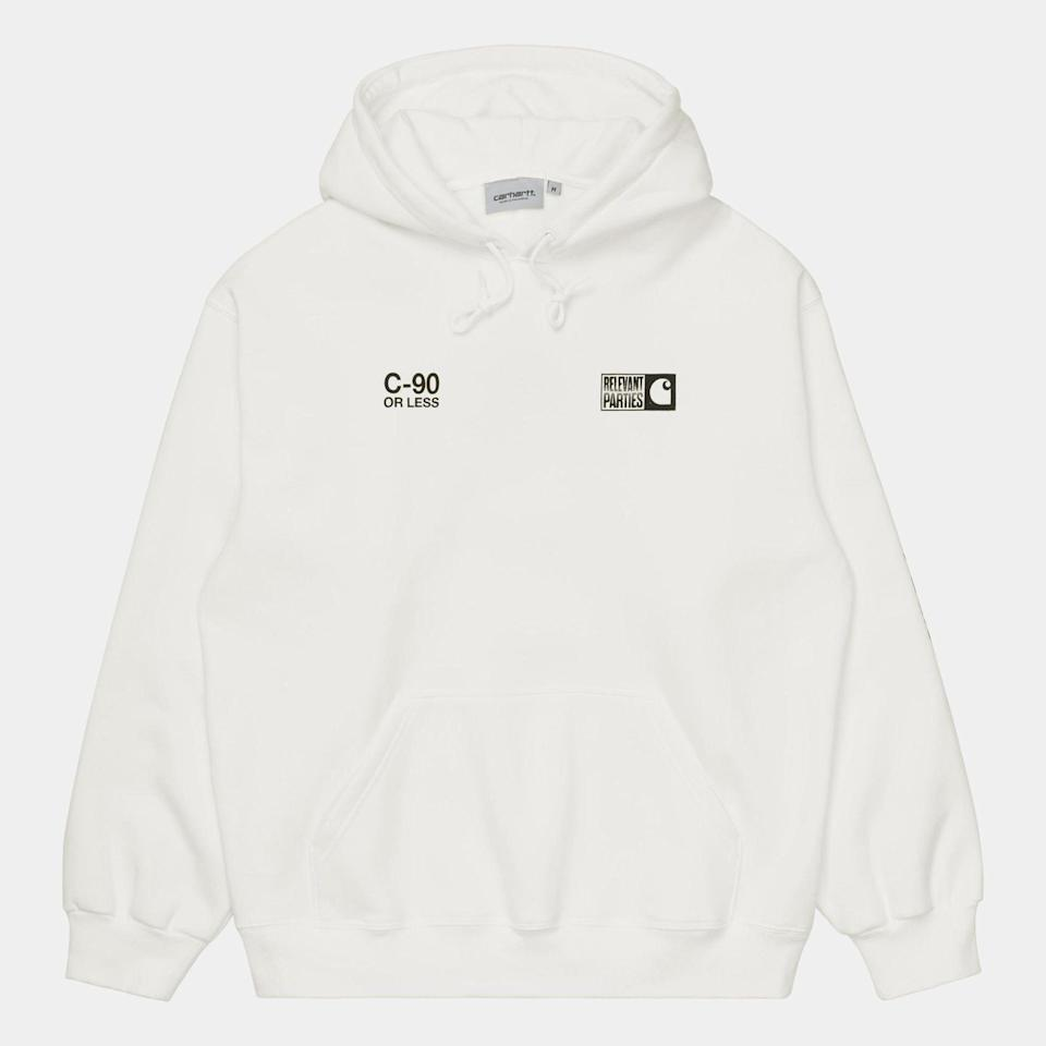 """<p><strong>Carhartt WIP</strong></p><p>carhartt-wip.com</p><p><strong>$148.00</strong></p><p><a href=""""https://us.carhartt-wip.com/products/hd-relevant-parties-vol-1-swt-sand-46"""" rel=""""nofollow noopener"""" target=""""_blank"""" data-ylk=""""slk:Buy"""" class=""""link rapid-noclick-resp"""">Buy</a></p>"""