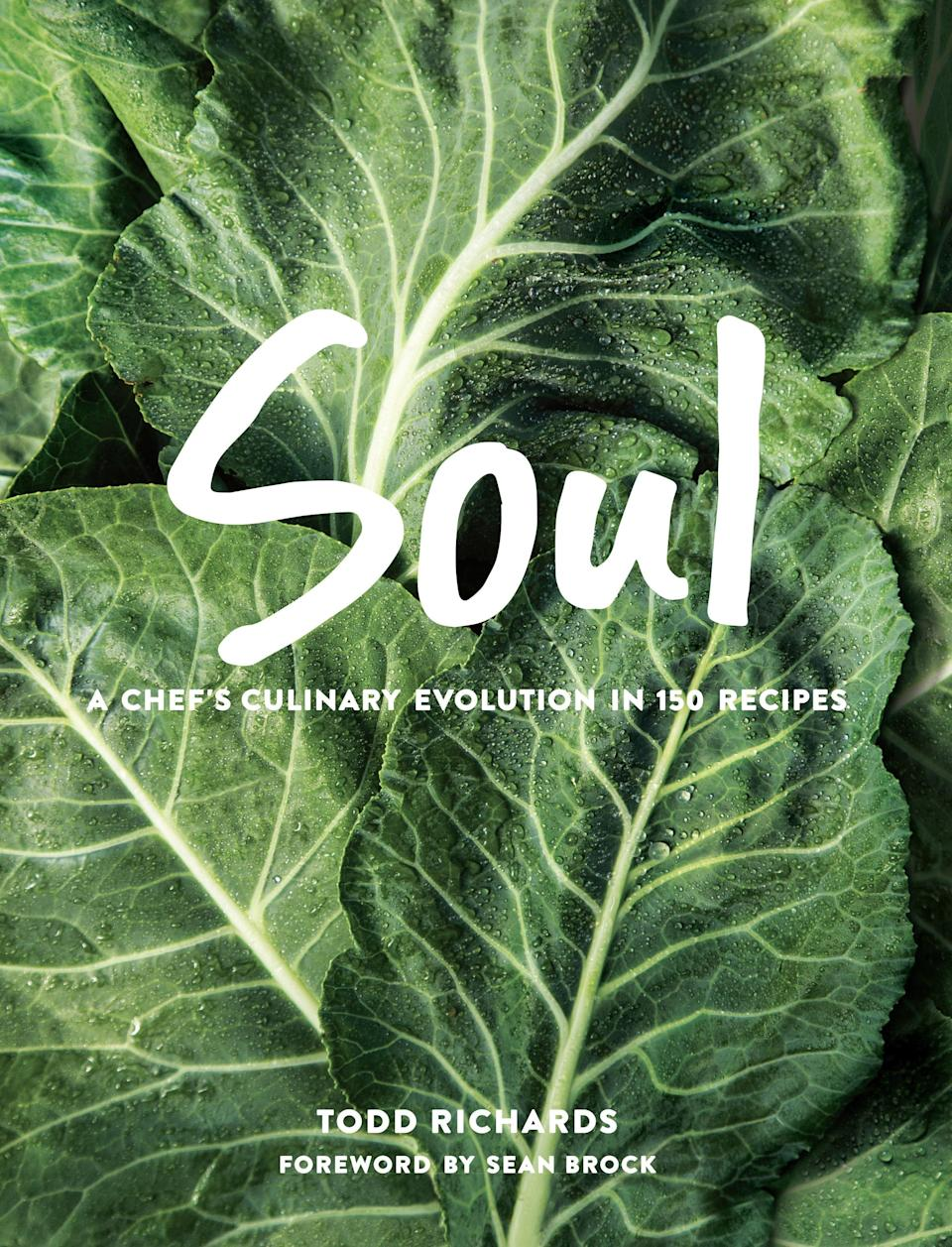 "<h1 class=""title"">Soul: A Chef's Culinary Evolution in 150 Recipes by Todd Richards</h1> <div class=""caption""> Get <em>Soul</em> by Todd Richards at <a href=""https://www.amazon.com/SOUL-Chefs-Culinary-Evolution-Recipes/dp/0848754417"" rel=""nofollow noopener"" target=""_blank"" data-ylk=""slk:Amazon"" class=""link rapid-noclick-resp"">Amazon</a>. </div>"
