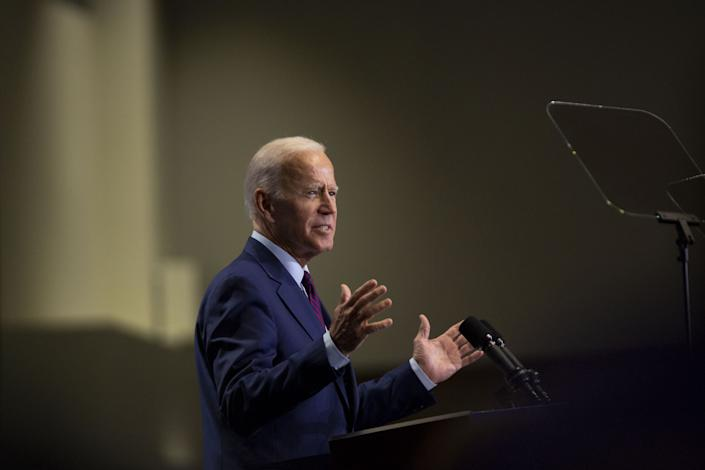 Former U.S. Vice President Joe Biden, a 2020 Democratic presidential candidate, speaks during the Rainbow PUSH Coalition Annual International Convention in Chicago, Illinois, U.S., on Friday, June 28, 2019.   Daniel Acker—Bloomberg/Getty Images