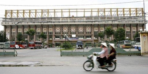 Ho Chi Minh City's 7th military zone stadium is seen in 2007