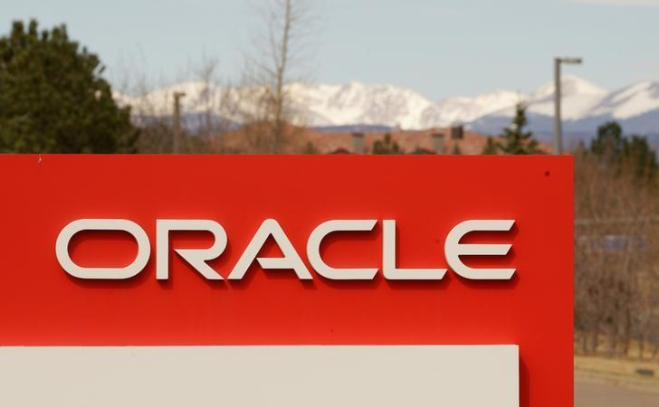 FILE PHOTO: The sign outside Oracle's offices in Broomfield