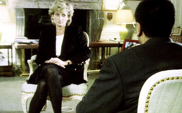 Diana, Princess of Wales during her Panorama interview with Martin Bashir for the BBC - BBC/PA