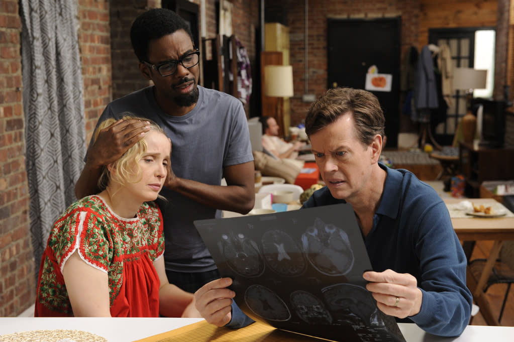 """Julie Delpy, Chris Rock and Dylan Baker in Magnolia Pictures' """"2 Days in New York"""" - 2012"""