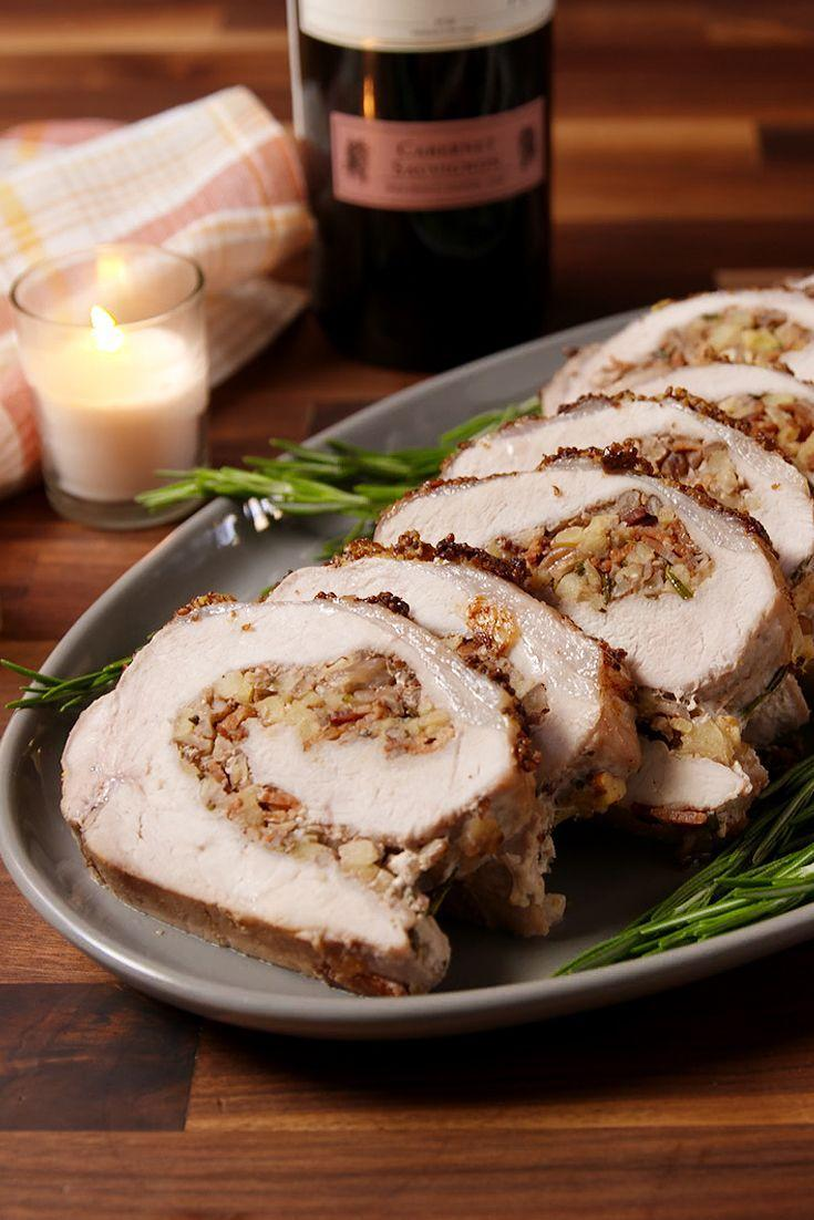 """<p>How to wow holiday dinner guests? Stuffing a pork loin with more bacon.</p><p>Get the recipe from <a href=""""https://www.delish.com/cooking/recipe-ideas/recipes/a50738/stuffed-pork-loin-recipe/"""" rel=""""nofollow noopener"""" target=""""_blank"""" data-ylk=""""slk:Delish"""" class=""""link rapid-noclick-resp"""">Delish</a>.</p>"""