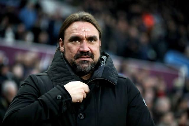 Norwich manager Daniel Farke was unhappy with a throw-in in the build-up to Villa's winner.