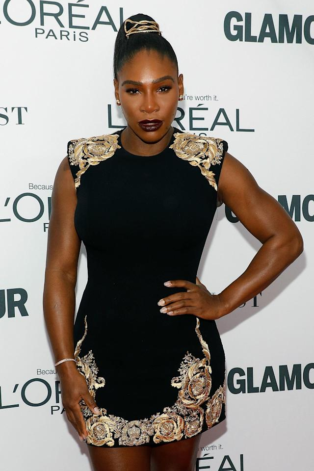 Serena Williams appears atthe 2017 Glamour Women of the Year Awards on Nov. 13 in New York City. (Taylor Hill/FilmMagic via Getty Images)