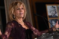 """<p><strong>Dec. 9, 2017</strong><br>Actress Jane Fonda turned 80 on Dec. 21, but she refuses to let age impact her style choices. The legendary beauty recently celebrated her upcoming landmark birthday at the fundraiser """"Eight Decades of Jane"""" held at The Whitley in Atlanta, Ga. In addition to raising $1.3 million for her charity — the Georgia Campaign for Adolescent Power and Potential (GCAPP) — Fonda celebrated the event in a form-fitting Elie Saab pantsuit. <strong>(Click through for more photos).</strong> <em>(Photo: Getty)</em> </p>"""