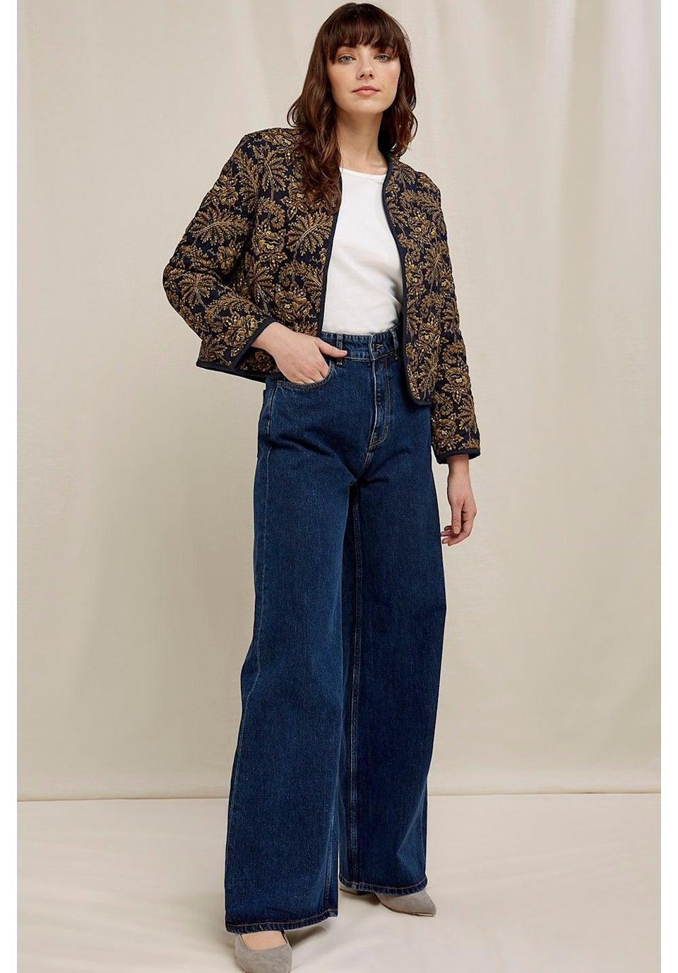 """<br><br><strong>People Tree</strong> V&A Rosa Print Jacket, $, available at <a href=""""https://www.peopletree.co.uk/edits/va-collection/va-rosa-print-jacket"""" rel=""""nofollow noopener"""" target=""""_blank"""" data-ylk=""""slk:People Tree"""" class=""""link rapid-noclick-resp"""">People Tree</a>"""