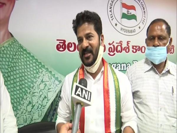 Newly-appointed TPCC president A Revanth Reddy. (File Photo/ANI)