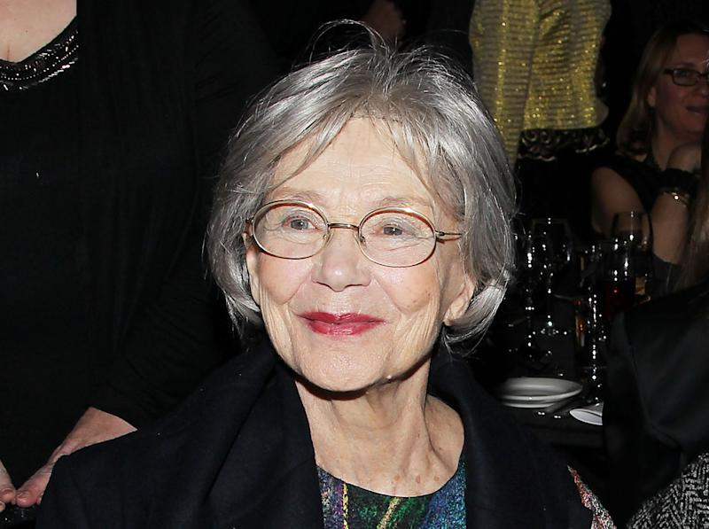 """FILE - This Jan. 7, 2013 file photo released by Starpix shows French actress Emmanuelle Riva from """"Amour"""", at the New York Film Critics Circle awards dinner at the Crimson Club in New York. Riva was nominated for an Academy Award for best actress on Thursday, Jan. 10, 2013, for her role in """"Amour ."""" The 85th Academy Awards will air live on Sunday, Feb. 24, 2013 on ABC. (AP Photo/Starpix, Dave Allocca, file)"""