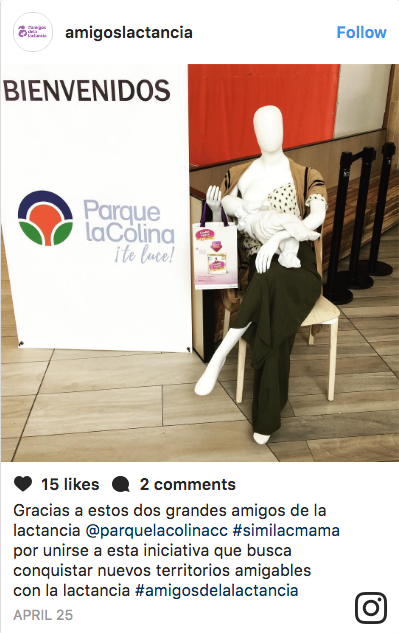 Malls in Colombia Are Now Using Breastfeeding Mannequins to Reduce the Stigma of Public Nursing