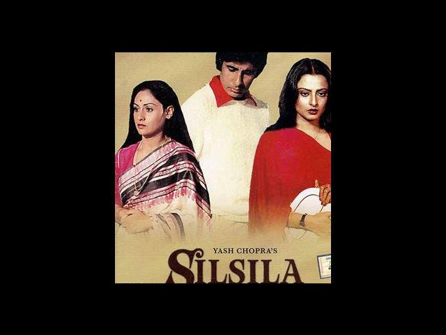 "<b>8. Silsila</b><br>In Yash Chopra's Silsila the clandestine relation between Amitabh and his inamorata Rekha reverberates love in its intense passion and brings up some of the most timeless dialogues like this:<br><br>""Mai aur meri tanhai, aksar ye baaten karte hain, tum hoti to kaisa hota, tum ye kahti, tum wo kahti, tum is baat pe hairaan hoti, tum us baat pe kitni hansti, tum hoti to aisa hota, tum hoti to waisa hota."""