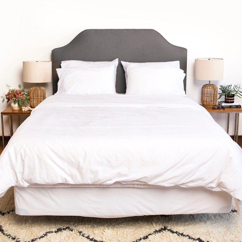 """<p><strong>Authenticity 50</strong></p><p>authenticity50.com</p><p><strong>$239.00</strong></p><p><a href=""""https://authenticity50.com/collections/best-sellers/products/authenticity-50-exclusive-white-sheets"""" rel=""""nofollow noopener"""" target=""""_blank"""" data-ylk=""""slk:Shop Now"""" class=""""link rapid-noclick-resp"""">Shop Now</a></p><p>If you prefer to shop local, <strong>these cotton sheets were grown and manufactured entirely in the U.S.</strong> They feel crisp and the fabric proved to be strong in our Lab's tests, and the softness ratings were overall average. The main downside is that there was moderate shrinkage after washing and some pilling. There's little risk in trying them out: The brand offers a 100-day trial so you can make sure you love it. </p>"""