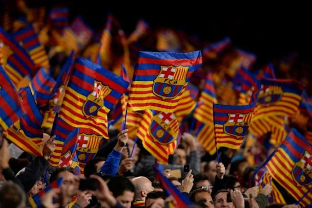 Barcelona predict they will become the first football club to record one billion euros in revenue this season (AFP Photo/PAU BARRENA)