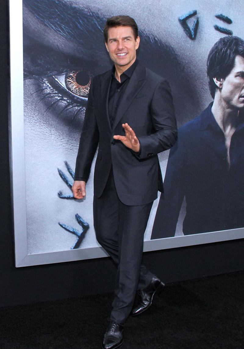 Tom Cruise here last year at the premiere of The Mummy. Source: Getty