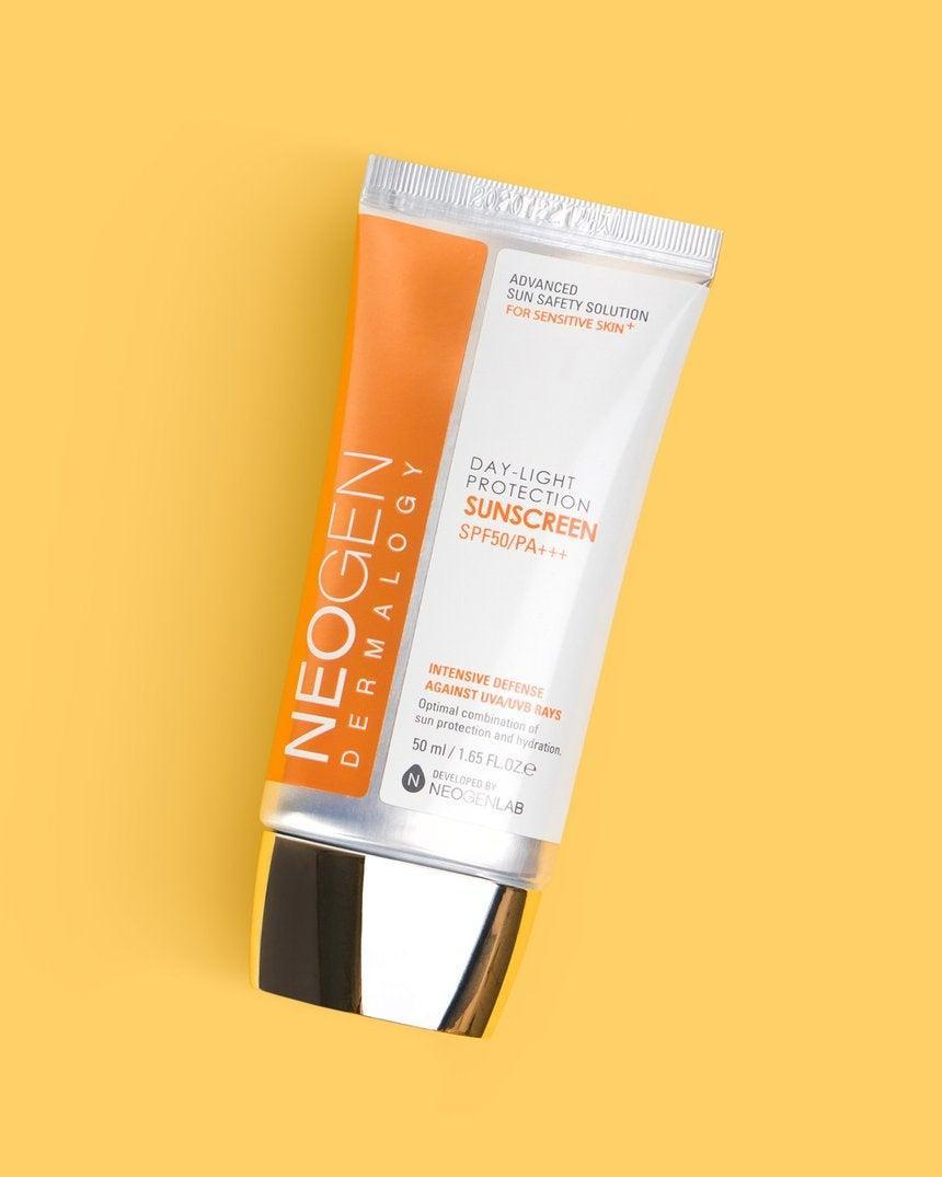 """<h3>Neogen Day-Light Protection Sun Screen SPF 50/PA+++</h3> <br>This formula feels more like a really good moisturizer but delivers serious sun protection. Plus, rose and raspberry extracts offer extra skin-soothing benefits.<br><br><strong>Fan-Following Says</strong>: """"This is my sunscreen. Yup. That's it. That's the entire review. After years of searching for a lightweight sunscreen that wouldn't leave me looking like Caspar the Ghost or like a patty soaked in grease, I've finally found it. It isn't oily and it doesn't clog my pores. It goes on light and feels almost like a moisturizer.""""<br><br><strong>Neogen</strong> Day-Light Protection Sun Screen SPF 50/PA+++, $, available at <a href=""""https://go.skimresources.com/?id=30283X879131&url=https%3A%2F%2Ffave.co%2F3fWtn1R"""" rel=""""nofollow noopener"""" target=""""_blank"""" data-ylk=""""slk:Soko Glam"""" class=""""link rapid-noclick-resp"""">Soko Glam</a><br><br><br>"""