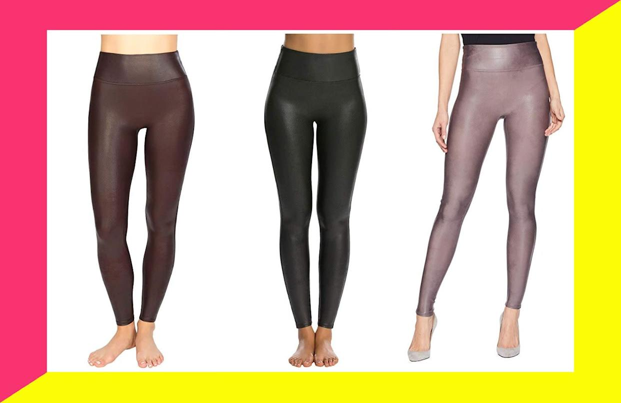The Spanx leggings everyone is obsessed with are still in stock one place. (Photo: HuffPost)