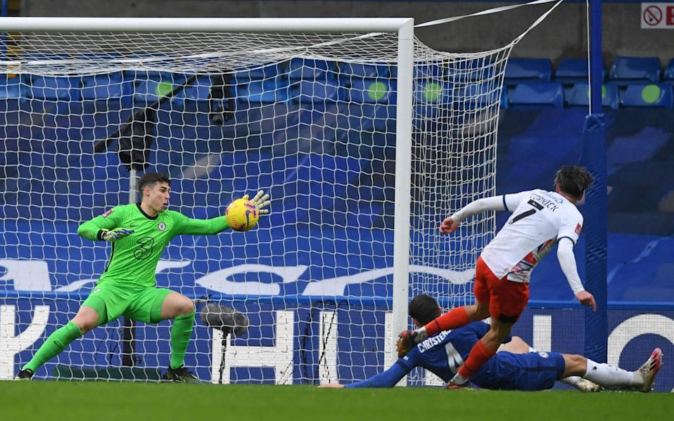 Kepa saves from Harry Cornick - GETTY IMAGES