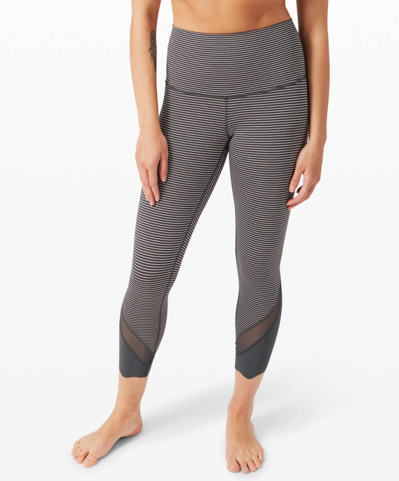 "Wunder Under Crop II 23"" Roll Down Scallop. Image via Lululemon."