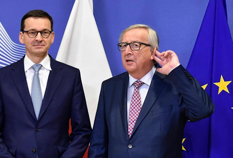 Mateusz Morawiecki and Jean-Claude Juncker met for talks in Brussels this week (Getty)