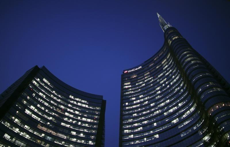 Headquarters of UniCredit, Italy's biggest bank by assets, is pictured in downtown Milan