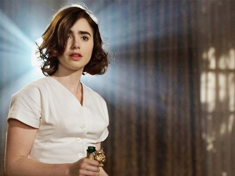 Lily Collins as Hollywood starlet Maria Mabrey in 'Rules Don't Apply' (Fox)