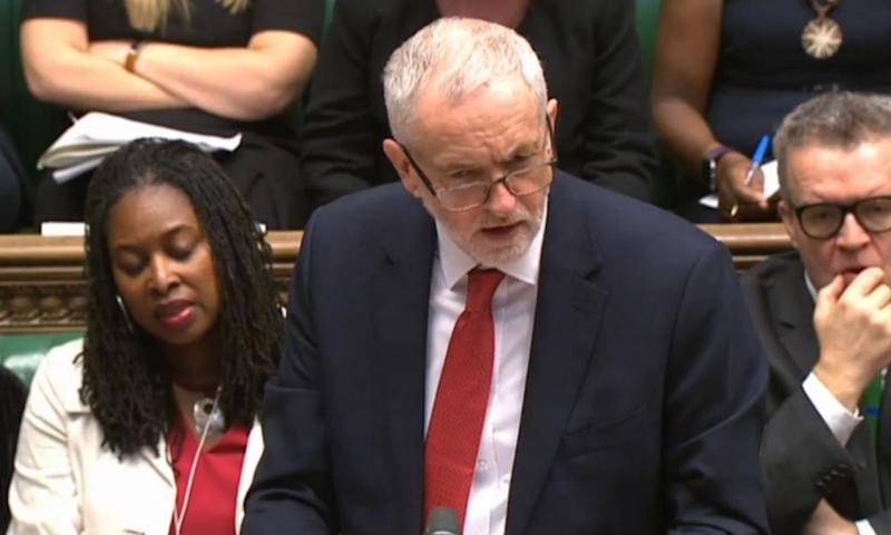 Jeremy Corbyn was banjaxed by Theresa May at Prime Minister's Questions.