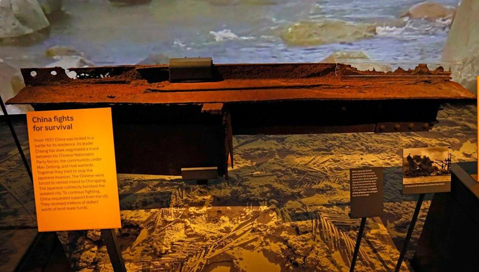 The first piece of wreckage from USS Arizona sunk at Pearl Harbour (Nigel Howard)