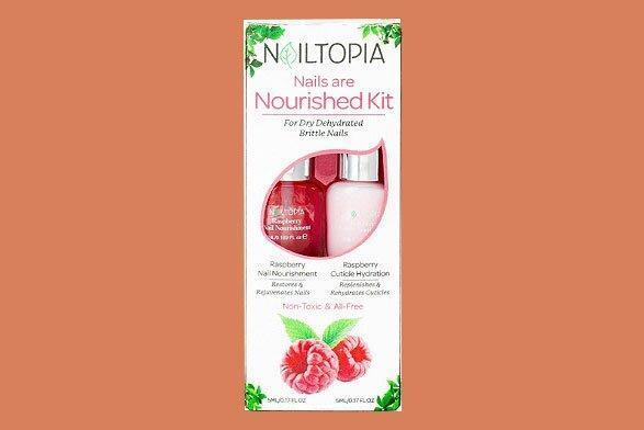 Nailtopia Nails Are Nourished Kit in Raspberry