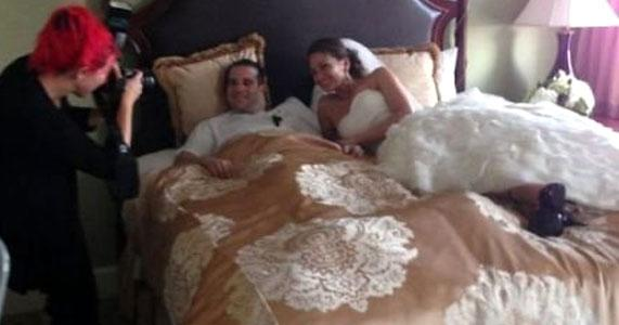 Chad and Holly were married bedside after was injured in a car crash.
