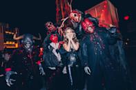 <p>all covered up at Halloween Horror Nights at Universal Studios Hollywood on Sept. 25.</p>