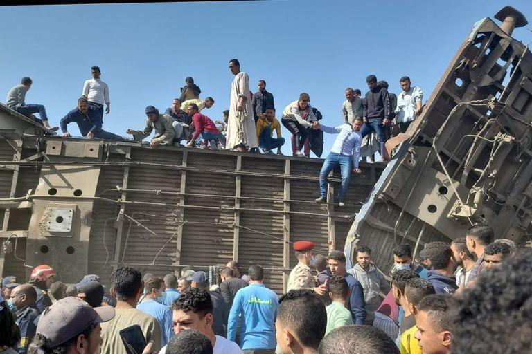 Accidente de tren en Egipto