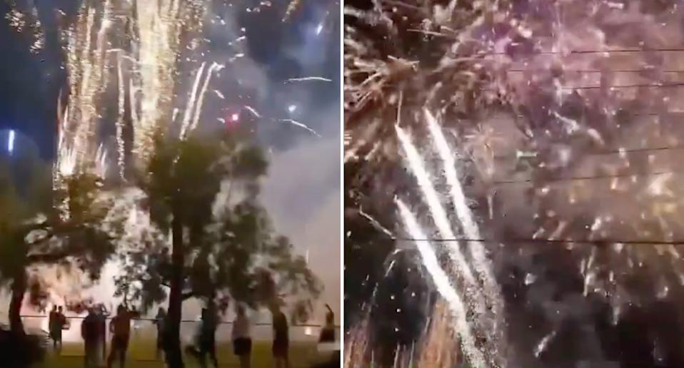 illegal fireworks on New Year's Eve in western Sydney