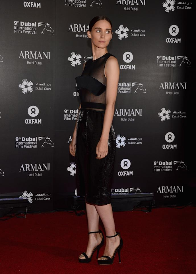 "DUBAI, UNITED ARAB EMIRATES - DECEMBER 14:  Actress Rooney Mara attends the 2012 Dubai International Film Festival, Dubai Cares and Oxfam ""One Night to Change Lives"" Charity Gala at the Armani Hotel on December 14, 2012 in Dubai, United Arab Emirates.  (Photo by Andrew H. Walker/Getty Images for DIFF)"