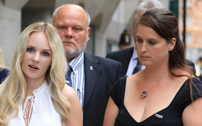 Lissie Harper (left) and Samantha Dixon (right) - Aaron Chown/PA