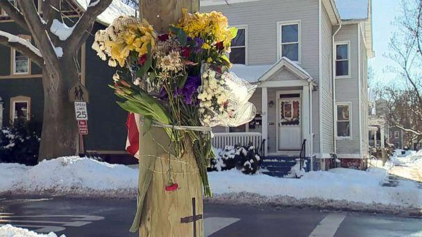 PHOTO: A memorial marks the area near where Yale graduate student Kevin Jiang was killed in New Haven, Conn., on Feb. 6, 2021. (WTNH/NewsNation)