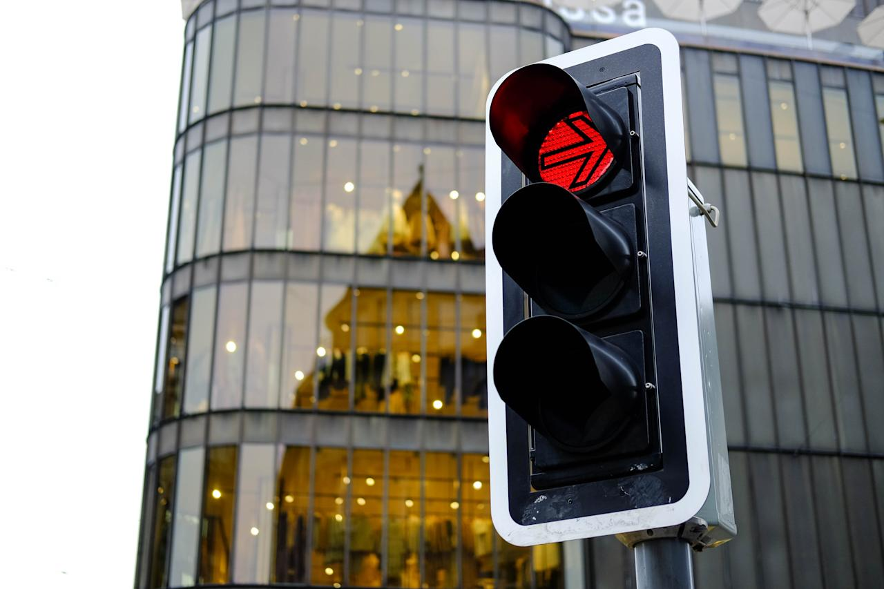 """<span style=""""font-weight:400;"""">Driving can be a fun and liberating activity—until you get stuck at a red light, that is. The <a href=""""https://nacto.org/publication/urban-street-design-guide/intersection-design-elements/traffic-signals/signal-cycle-lengths/"""" target=""""_blank"""">National Association of City Transportation Officials</a> says that the average </span><a href=""""https://bestlifeonline.com/red-lights/?utm_source=yahoo-news&utm_medium=feed&utm_campaign=yahoo-feed"""" target=""""_blank""""><span style=""""font-weight:400;"""">time spent waiting</span></a><span style=""""font-weight:400;""""> at a red light is 75 seconds, accounting for approximately 20 percent of all driving time. That's a whole lot of time doing nothing and just another reason to switch to public transportation. </span>"""