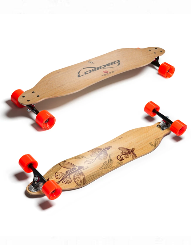 "Whether you're shopping for your 13-year-old cousin or the adventurous commuter, this top-rated, decorative longboard fits the bill. $309, Loaded Boards. <a href=""https://loadedboards.com/collections/longboard-decks-and-completes/products/vanguard-longboard-skateboard"" rel=""nofollow noopener"" target=""_blank"" data-ylk=""slk:Get it now!"" class=""link rapid-noclick-resp"">Get it now!</a>"