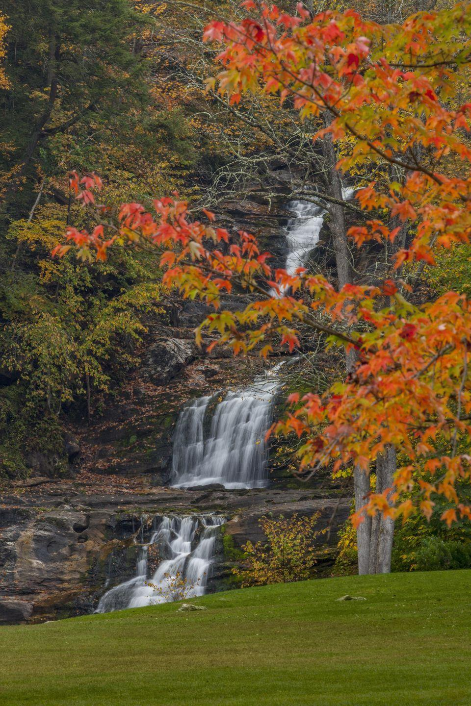 <p>Head west from Litchfield and you'll find yourself at Kent, a picturesque town that offers breathtaking fall foliage during the autumn season — not to mention some of the best hiking trails through Kent Fall State Park or the nearby Macedonia Brook State Park.</p>