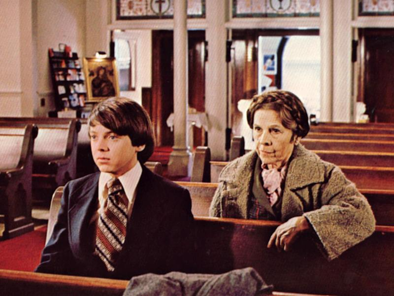 Bud Cort and Ruth Gordon in Hal Ashby's 1971 film 'Harold and Maude': Rex Features