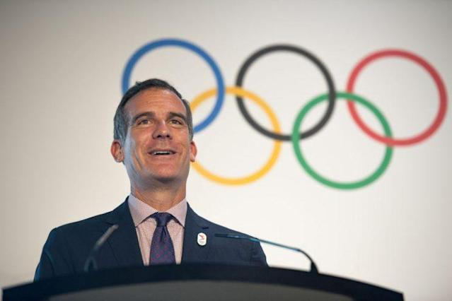 Los Angeles Mayor Eric Garcetti is convinced his city will not make the same mistakes other Olympic hosts have in the past. (Getty Images)