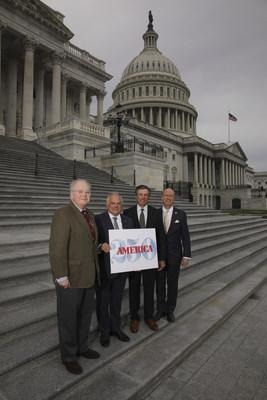 [L to R]: Rep. George Holding (R-NC); Frank Giordano, Executive Director of the U.S. Semiquincentennial Commission; Dan DiLella, Chairman of the U.S. Semiquincentennial Commission; Rep. Robert Aderholt (R-AL).