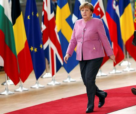 FILE PHOTO: German Chancellor Angela Merkel arrives at the EU summit in Brussels, Belgium, March 9, 2017.    REUTERS/Francois Lenoir/File photo